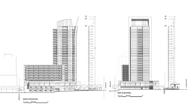 Elevation diagram for 500 Sheppard Avenue East