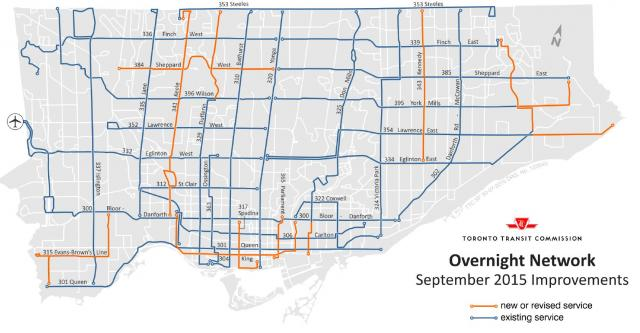 Blue Night Network Expansion, TTC