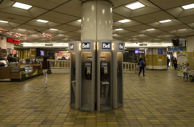 Payphone bank, GO Bay Concourse at Toronto's Union Station