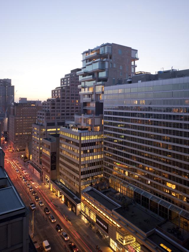 130 Bloor West, image courtesy of Quadrangle Architects