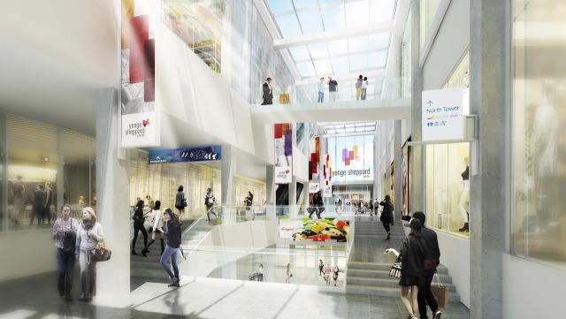 Yonge Sheppard Centre redevelopment, image courtesy of Quadrangle Architects