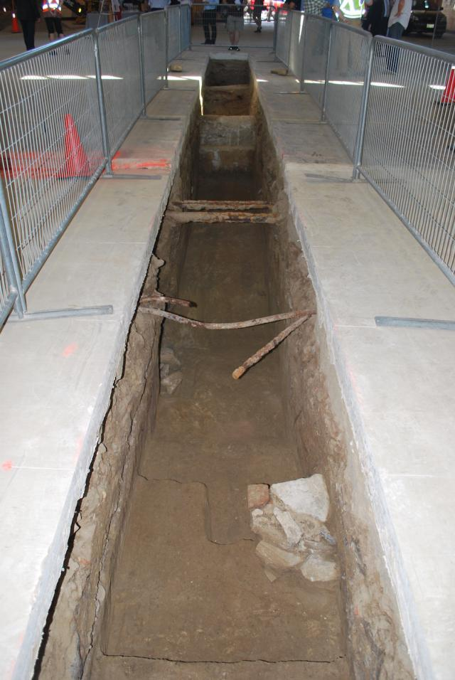 Trench 3 contains evidence of the 1831 pier foundations, image by Marcus Mitanis