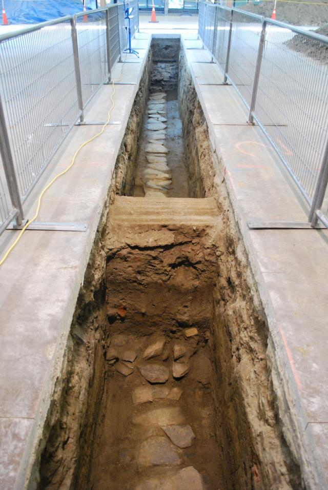 The second trench contains sewer remnants, image by Marcus Mitanis