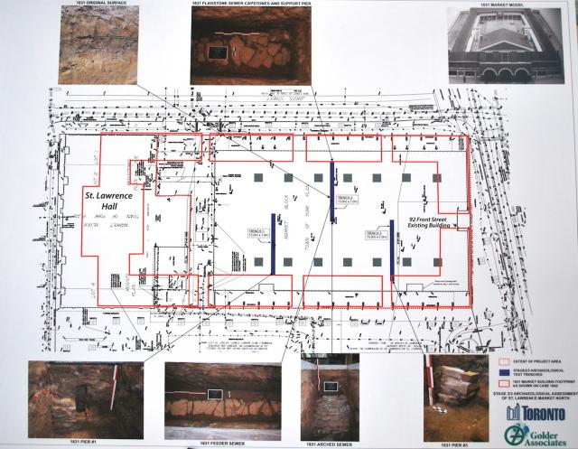 Map of the site and the three trenches, image courtesy of Golder Associates