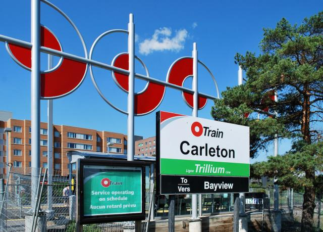 Carleton Station on the O-Train Trillium Line, image by Marcus Mitanis