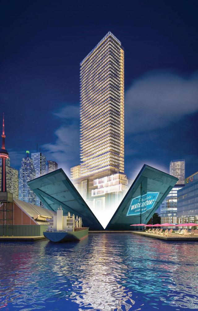 Daniels Waterfront condos, office, retail, Toronto, Daniels Corporation