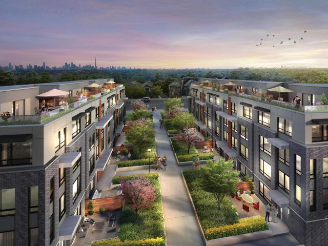 Briar Hill City Towns, Kirkor Architects, Madison Homes, Toronto