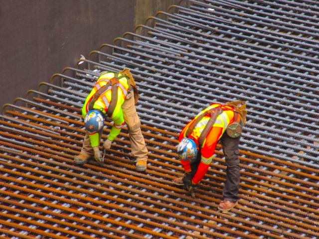 Rebar installed for raft slab at Massey Tower, MOD Developments, Toronto