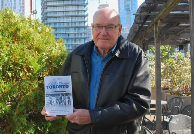 John Sewell and his book 'How We Changed Toronto', image by Marcus Mitanis