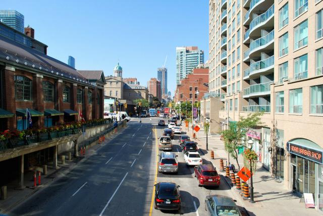 Looking north on Jarvis Street in St. Lawrence, image by Marcus Mitanis