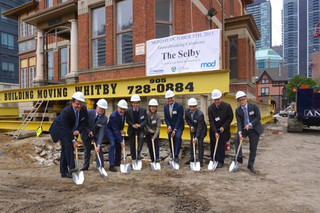 Ground breaking for The Selby luxury rentals, Toronto