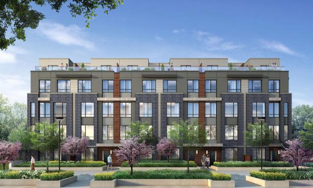 Briar Hill City Towns, Toronto, by Madison Homes, Kirkor Architects Planners
