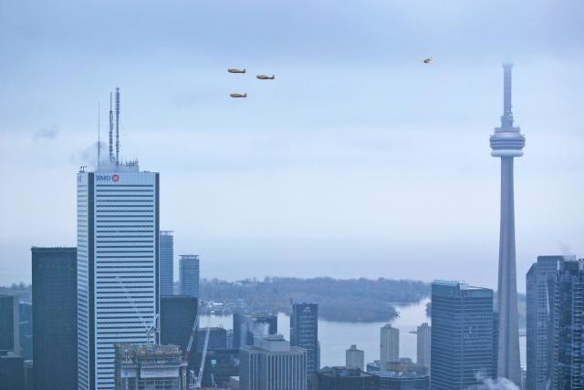View of the Remembrance Day flyover, image by Marcus Mitanis