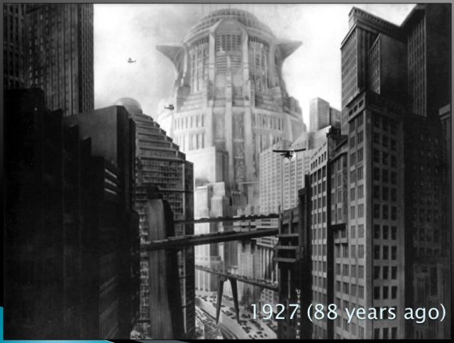 Metropolis in the 1927 film, image courtesy of Robert J. Sawyer