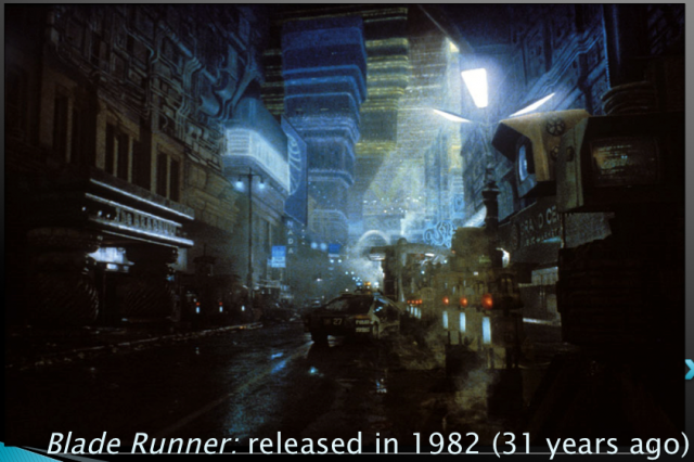 Blade Runner's depiction of Los Angeles, image courtesy of Robert J. Sawyer