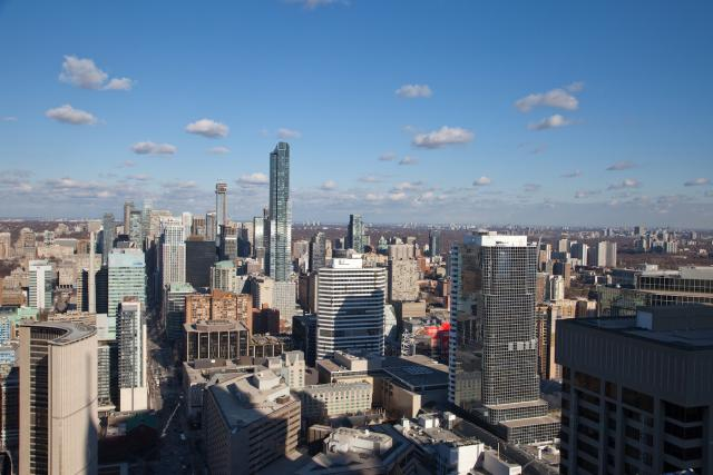 Looking north from the 53rd floor of INDX Condos, image by Jack Landau