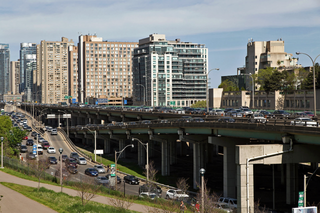 The congested Gardiner Expressway, image by Vik Pahwa