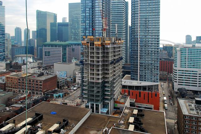 View to the south, Picasso Condos, Monarch, Mattamy, Goldman, Teeple, image by Marcus Mitanis