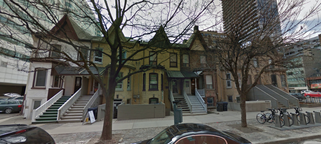 The current properties at 8-20 Widmer, image retrieved via Google Maps