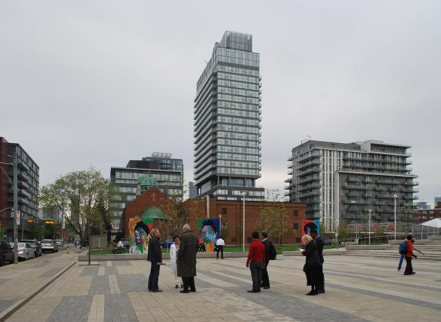 Regent Park's central plaza, Daniels, Urban Land Institute, Marcus Mitanis