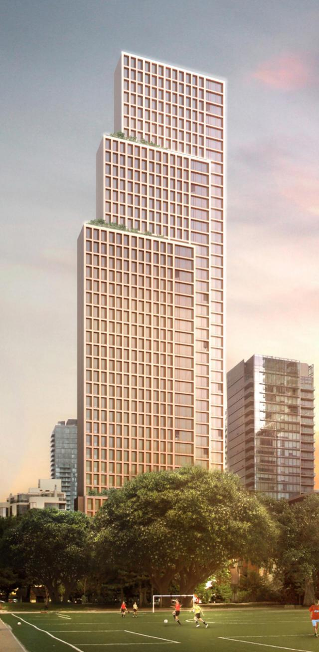 Bay + Scollard, Toronto, by BRL Realty, Urbacon, Foster + Partners