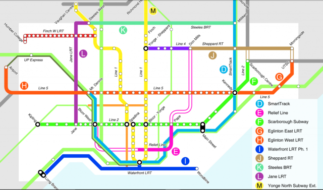 The new 15-year transit, image courtesy of the City of Toronto