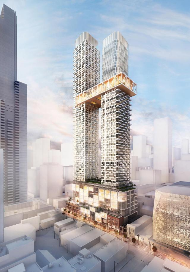 KingSett Capital, Cresford, Quadrangle Architects, 385 Yonge, YSL, Toronto