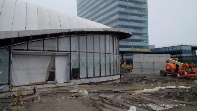 Vaughan Metropolitan Centre station under construction, image courtesy of the TT