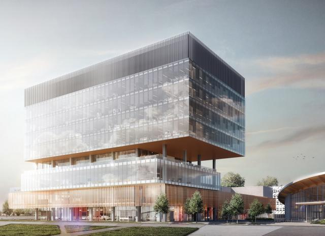 Vaughan Centre YMCA/Library, Calloway REIT, SmartCentres, Diamond Schmitt