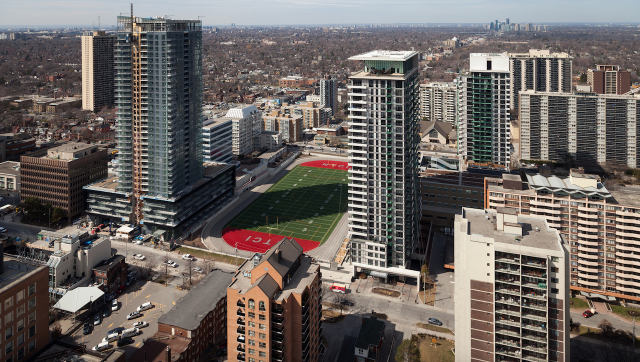 Looking north from The Madison Condos on Eglinton East, image by Jack Landau