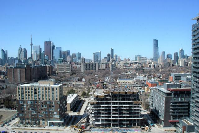 Looking west at the site of The Bartholomew in Regent Park, image by UT Forum co