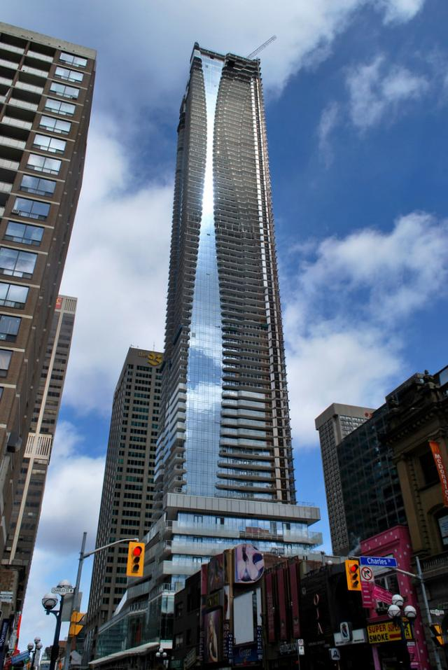 The One rising above Yonge & Bloor, image by Marcus Mitanis