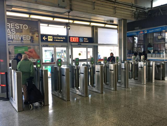 The fare gates in action, image by Stefan Novakovic