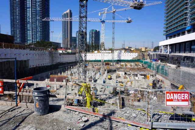 Construction is under way for Eau du Soleil, an Empire Communities condo complex