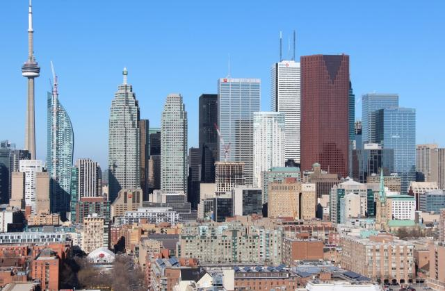 Throwback Thursday, Toronto skyline, Distillery District