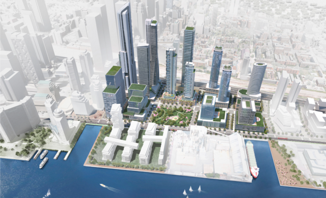 A preliminary vision for the Lower Yonge Precinct illustrates the density planne