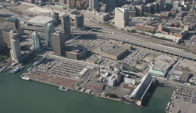 An aerial view of the Lower Yonge Precinct, image courtesy of City of Toronto /