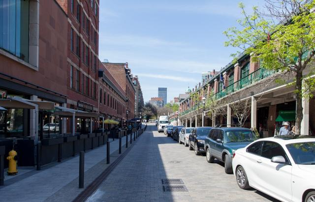 Looking north along Market Street from The Esplanade, image by Jack Landau