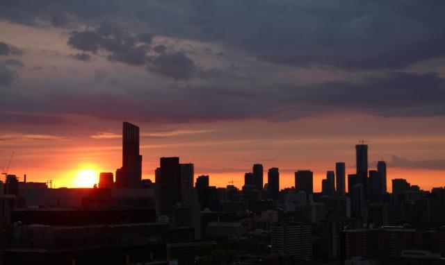 Photo of the Day, Toronto, sunset, Aura at College Park