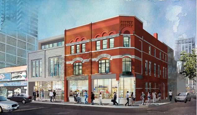 A rendering of the completed project, image courtesy of Brook McIlroy