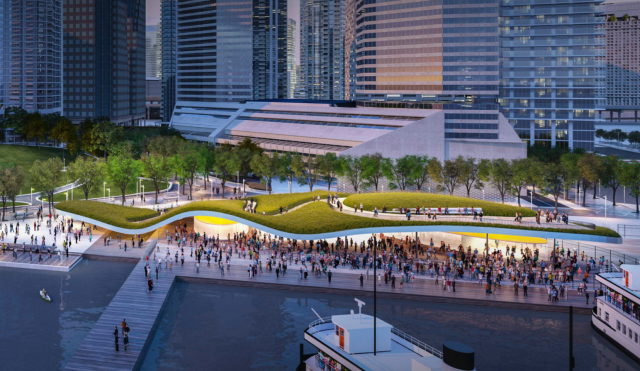 Jack Layton Ferry Terminal and Harbour Square Park, image via Waterfront Toronto