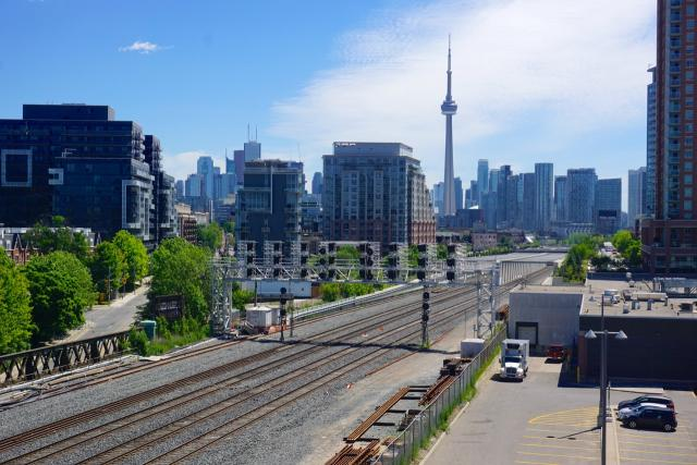 Looking towards Downtown from Liberty Village, image by Craig white