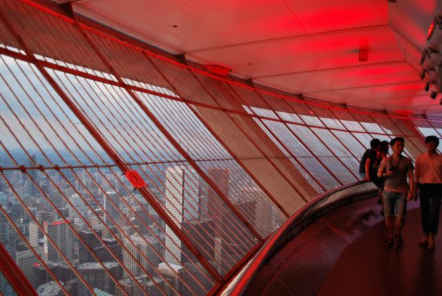 View from outdoor observation deck, CN Tower, WZMH, Metro Centre, Marcus Mitanis