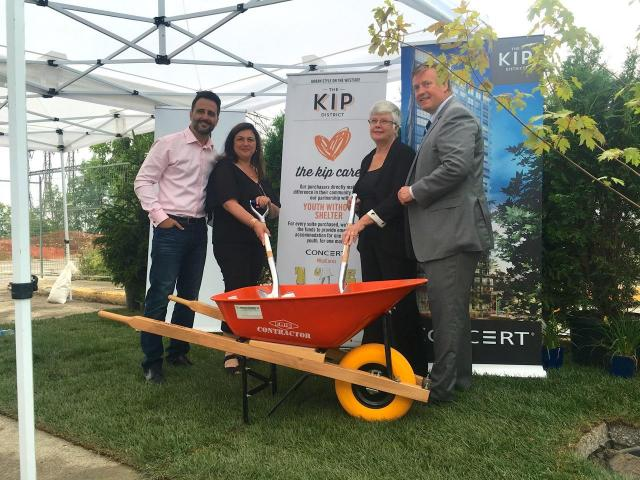 Ground breaking at The Kip District by Concert Properties, Etobicoke