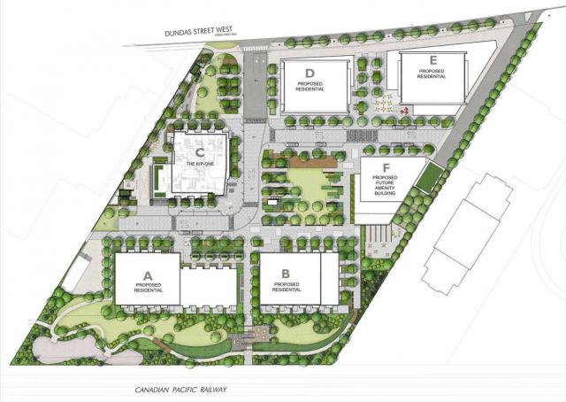 Site Plan of The Kip District by Concert Properties, Etobicoke