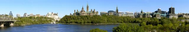 A panorama of Ottawa, image via Wikimedia Commons, by G. Baranski