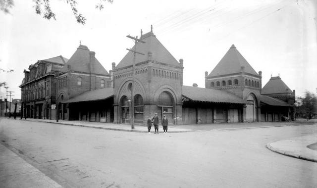 The 1873-built market building, image via Toronto Archives