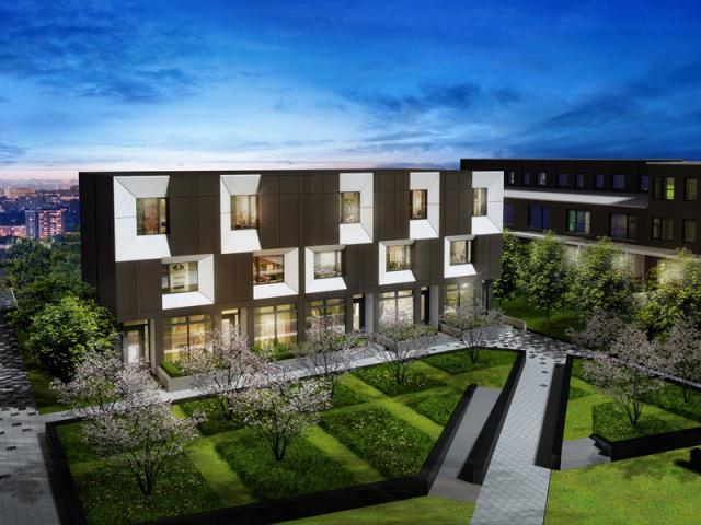 Townhomes at SQ2, image courtesy of Tridel