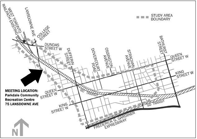 The West Toronto Railpath corridor, image via the City of Toronto