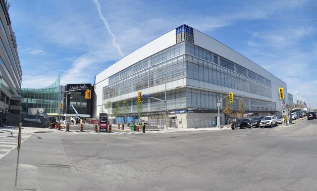 Facing northwest towards the Yorkdale Shopping Centre expansion